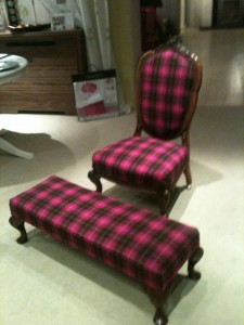 tartan chair stool 008